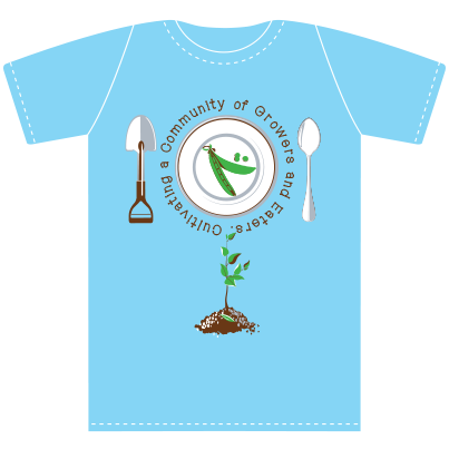 Scholars with Shovels to Spoons Blue T-shirt