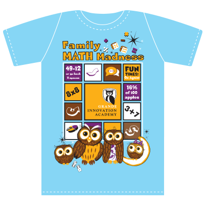 Family Math Madness Blue T-shirt